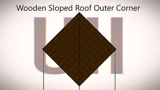 Wooden Sloped Roof Outer Corner