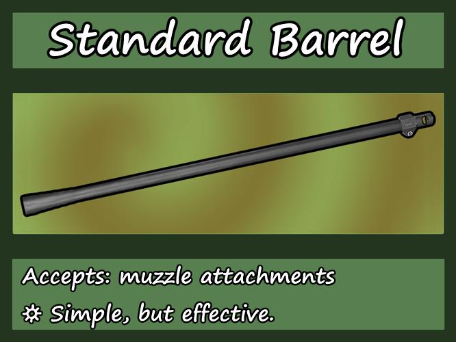 Standard Barrel chart