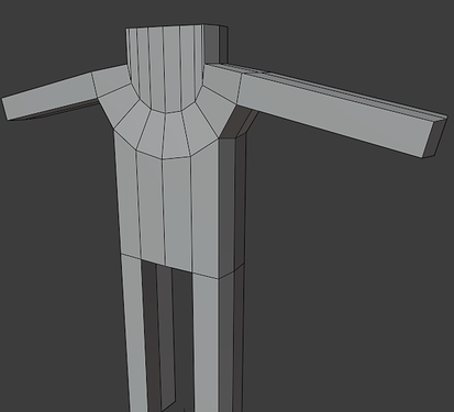 7 extrude a bunch of faces until it looks like this