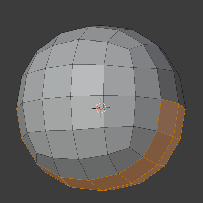 2 Select this part of the mesh