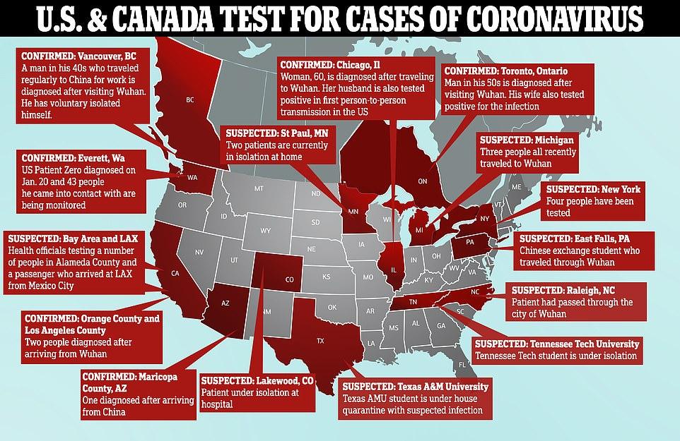 Image result for Coronavirus cases in America